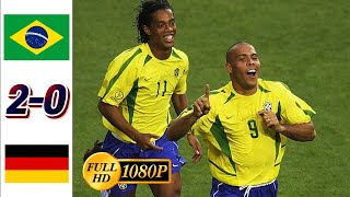 2002 WORLD CUP FINAL I Brazil vs Germany  All goals & Highlights HD