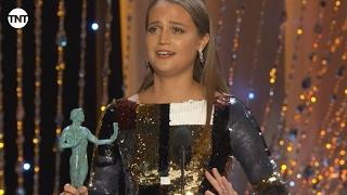 Alicia Vikander I SAG Awards Acceptance Speech 2016 I TNT