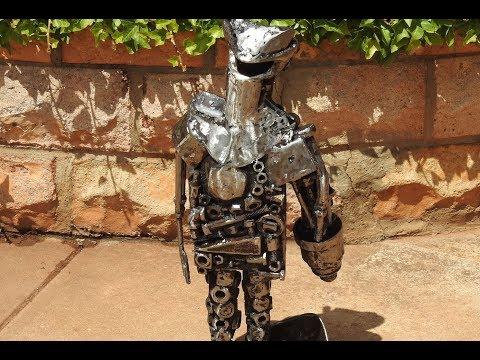 Scrap Metal Art I'm Steel Standing (Flamethrower Warrior)