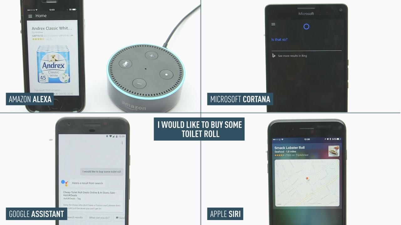 Siri vs. Alexa vs. Cortana vs. Google Assistant