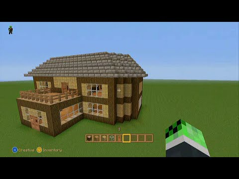 easy survival minecraft house tutorial (xbox360) - youtube