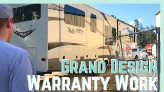 RV WARRANTY WORK (ON OUR GRAND DESIGN) || FULL TIME RV LIVING