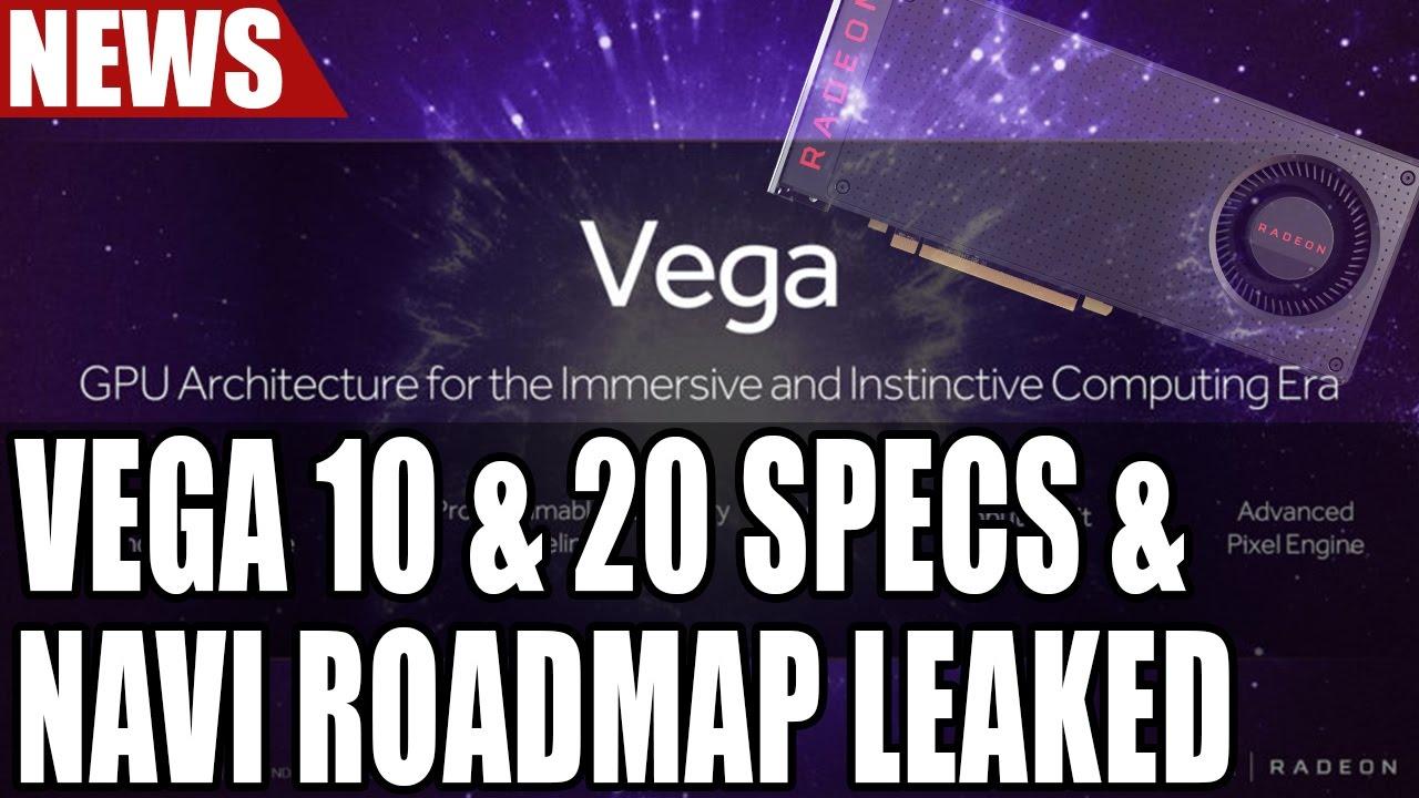 AMD Vega 10 & Vega 20 Specs & & Navi Roadmap Leaked   12 TFLOPS Performance  & More
