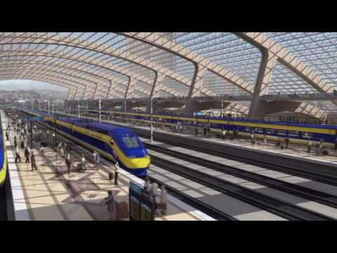 California High Speed Rail - Anaheim ARTIC to Los Angeles Union Station Simulated Ride