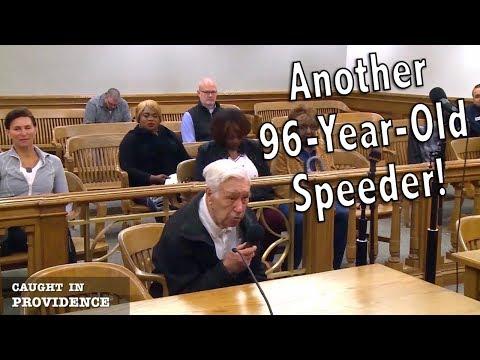 Another 96 Year old speeder & Her boyfriend is a bum!