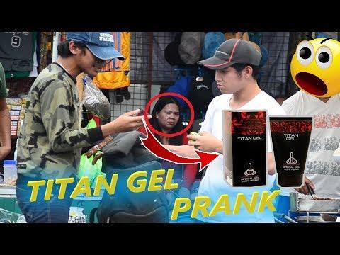 "TITAN GEL IN PUBLIC "" Muntik na may BUMILI "" (Prank)"