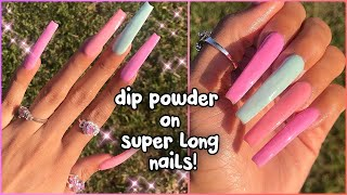 DIY easy af ACRYLIC NAILS - NO LAMP needed! MODELONES Dip Powder Kit | Amazon Prime