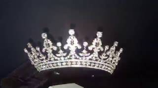 Корона диадема свадебная для невесты 5,6 см 5365