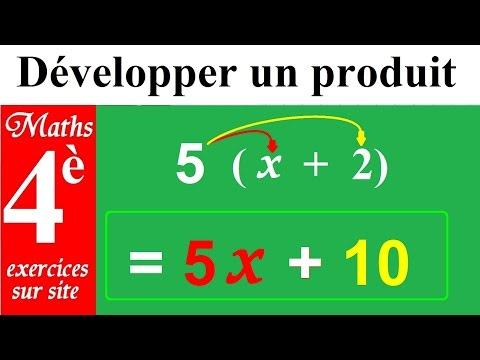 Maths 4ème | Règles pour développer et réduire tous les produits