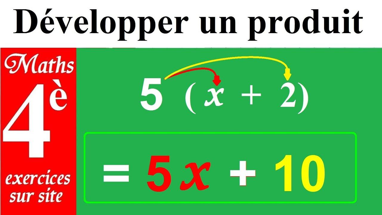 Maths 4eme Regles Pour Developper Et Reduire Tous Les Produits