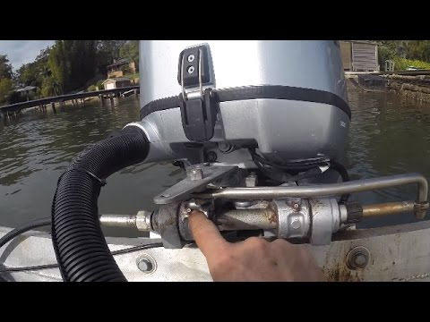 Replacing the steering cable and helm in a boat