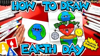 How To Draw An Earth Day Folding Surprise  - #stayhome and draw #withme