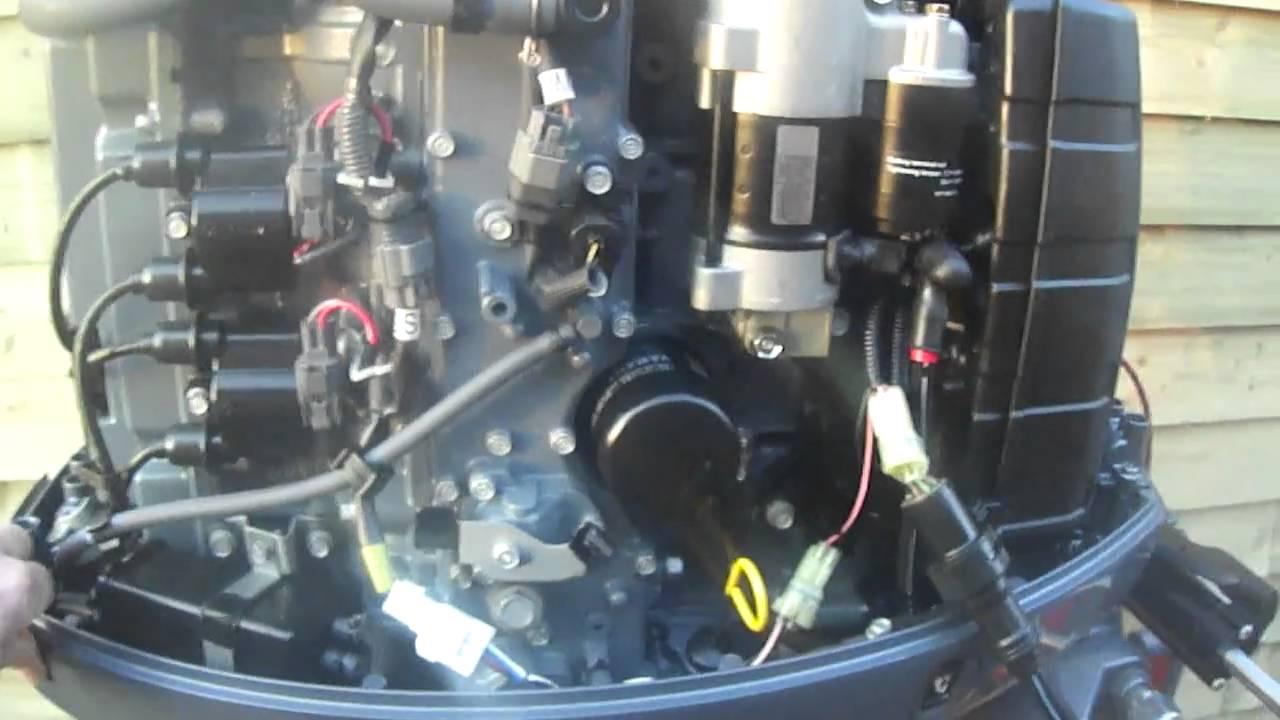 100hp Mercury Mariner Wire Diagram Yamaha F 100 Hp Youtube