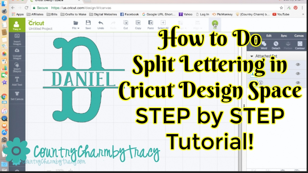 How To Do Split Lettering In Cricut Design Space Step