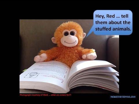 RED & BLACK:  Communication, Relationships & Talking Stuffed Animals