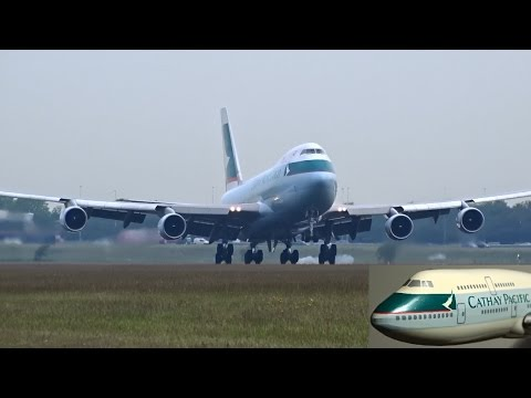Cathay Pacific Cargo – Boeing 747-400F(ER) – Lands at AMS (B-LID) + PAX MODEL