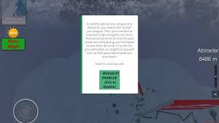Fallschirmspringen für buchstäblich eine Minute auf Everest Rollenspiel Roblox.