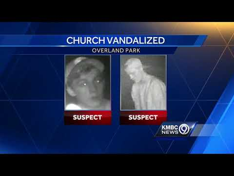 2 sought after Overland Park church vandalized