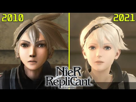 Nier Replicant (ニーアレプリカント ) Original PS3 vs PS4 Remaster Early Graphics Comparison (NEW GAMEPLAY)