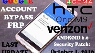 New Method!! Google FRP Bypass ALL HTC 10 M9 A9 Verizon. Last Update: October 1, 2016