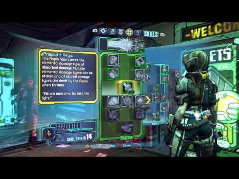 Level 50 Melee Athena Build   Borderlands: The Pre-Sequel
