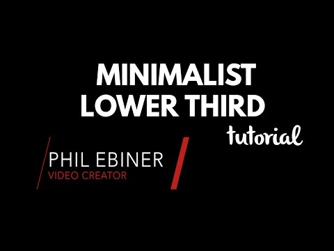 Minimalist Lower Third After Effects Tutorial