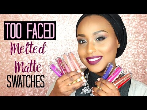 too-faced-melted-matte-liquid-lipstick-lip-swatches- -all-17-shades!!