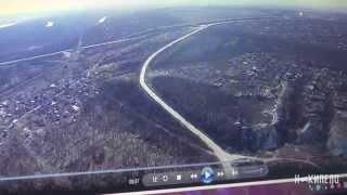 Видео беспилотника окрестности Станицы Луганской. Укрепрайоны противника