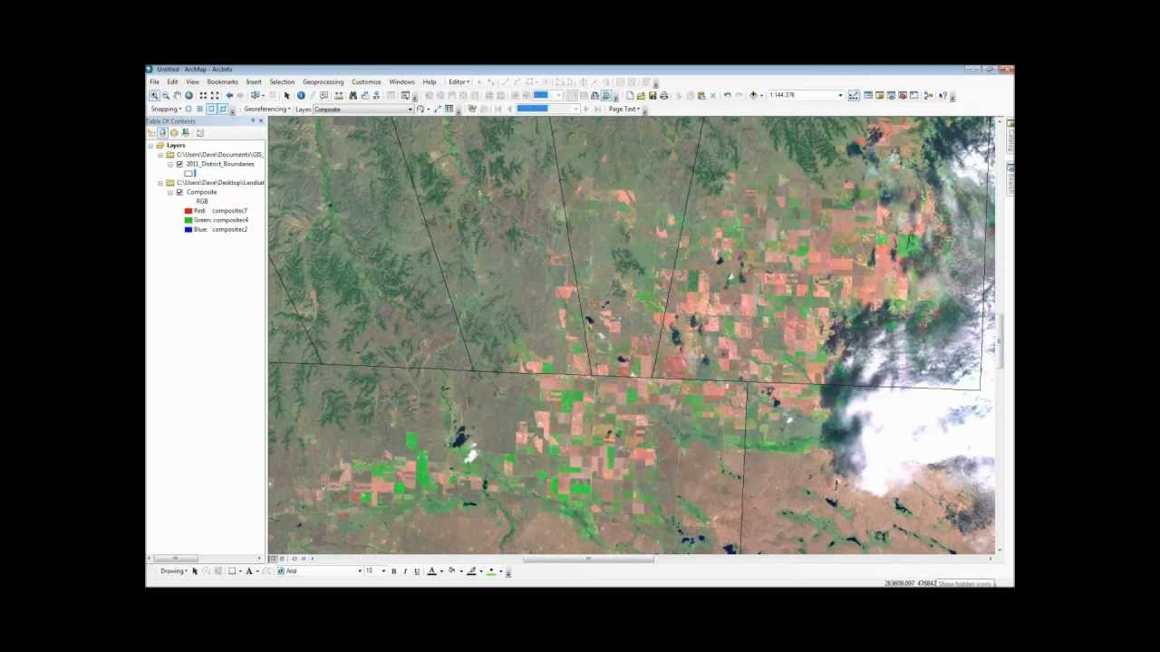Downloading landsat geotiff images and viewing them in arcmap 10 downloading landsat geotiff images and viewing them in arcmap 10 youtube gumiabroncs Choice Image