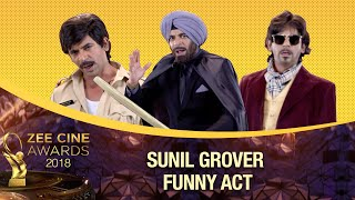 Download song Sunil Grover gives BAHUBALI Auditions | FUNNIEST | Zee Cine Awards 2018