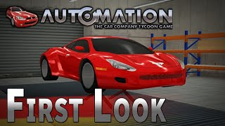 Automation - The Car Company Tycoon Game | First Look [GER] Wir basteln ein Auto!