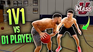 1V1 Against Starting D1 Point Guard At UMASS ! (Physical)