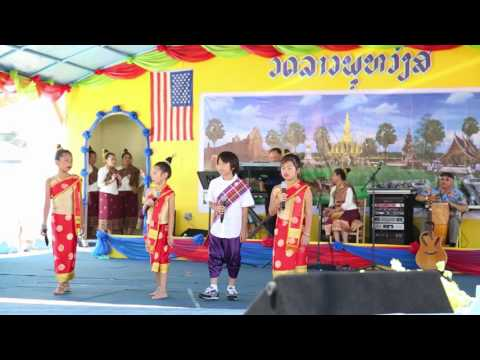 Lao Alphabet song at Wat Lao Buddhavong July 2 2016