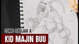Como Dibujar a Kid Buu Paso a Paso // How to draw Kid Buu //DRAGON BALL Z // Billyart