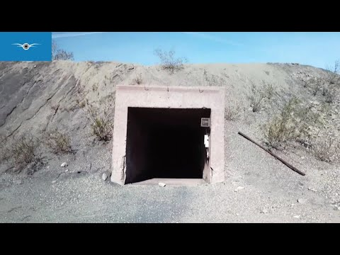 Abandoned Prison and Mines Eagle Mountain Ghost Town Drone