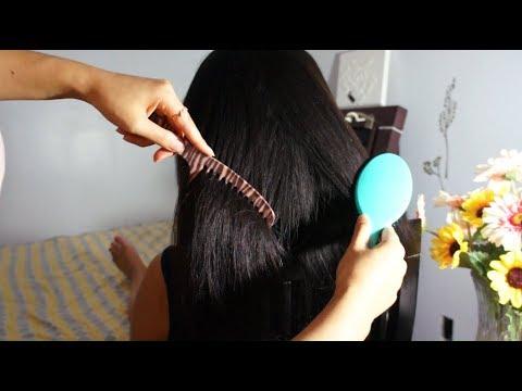 ASMR Hair Brushing, Hair Brushing w. Two Brushes ...