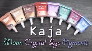 Kaja MOON CRYSTAL Sparkling Eye Pigments: Swatches, Application, Review