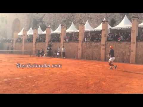 Goffin and Nadal practice in Monte Carlo