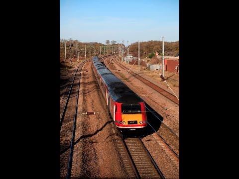 Class 43 HST Diesel train, Virgin Trains, East Coast Main Line Railway