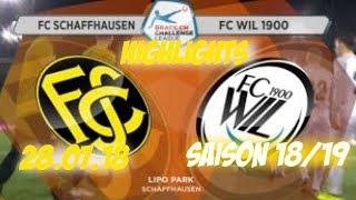 Highlights: Fc Schaffhausen vs Fc Wil (28.07.18)