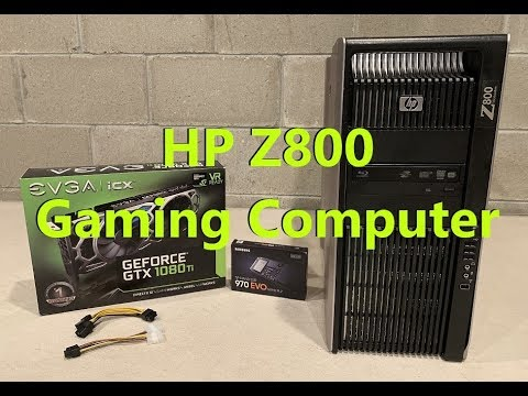 HP Z800 Gaming Computer (GTX 1080 TI and NVME 2 Install)