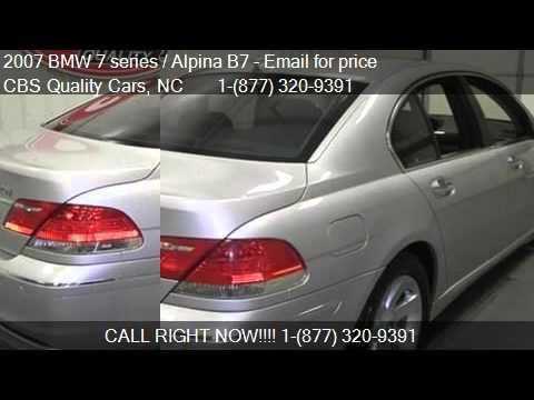 BMW Series Alpina B For Sale In DURHAM NC YouTube - 2007 bmw alpina b7 for sale