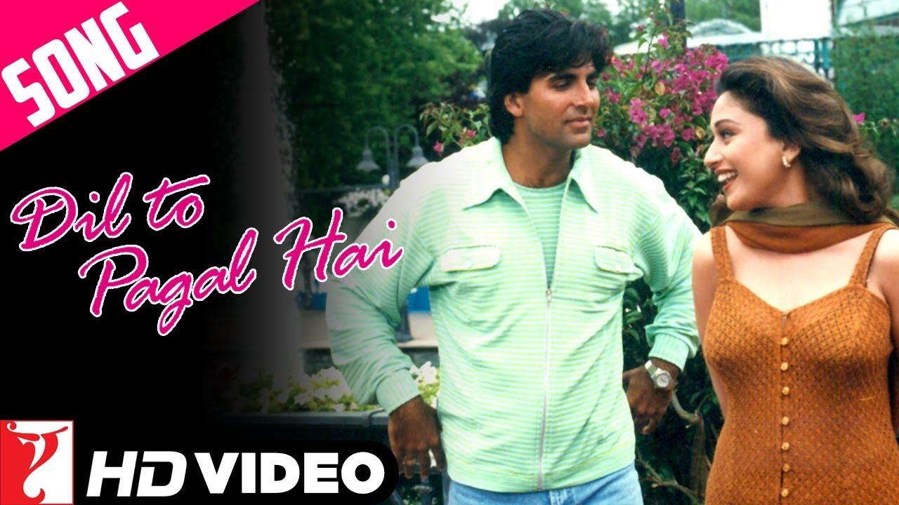 Dil To Pagal Hai Title Song Shah Rukh Khan Madhuri Dixit