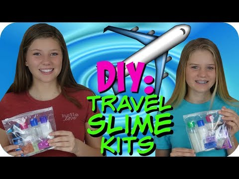 DIY TRAVEL SLIME KIT TUTORIAL || MAKE YOUR OWN SLIME KIT || Taylor and Vanessa