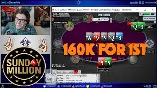 MY DEEPEST RUN IN THE POKERSTARS SUNDAY MILLION - $160K FOR 1ST