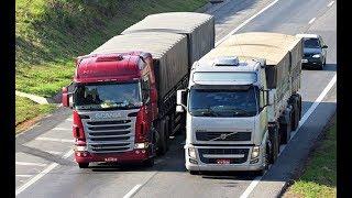 Scania R440 X Volvo FH440 Comparativo NO PAPEL E NA ESTRADA