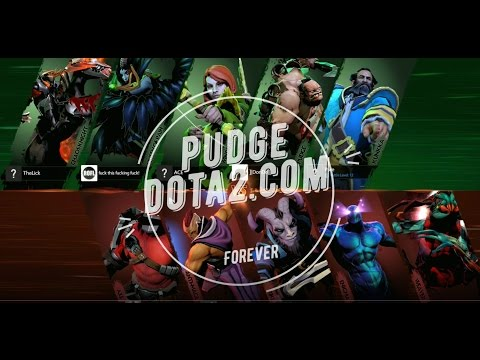 Pudge dota 2 MID and no courier, no support, no wards  Pudge Hooks Hard Win