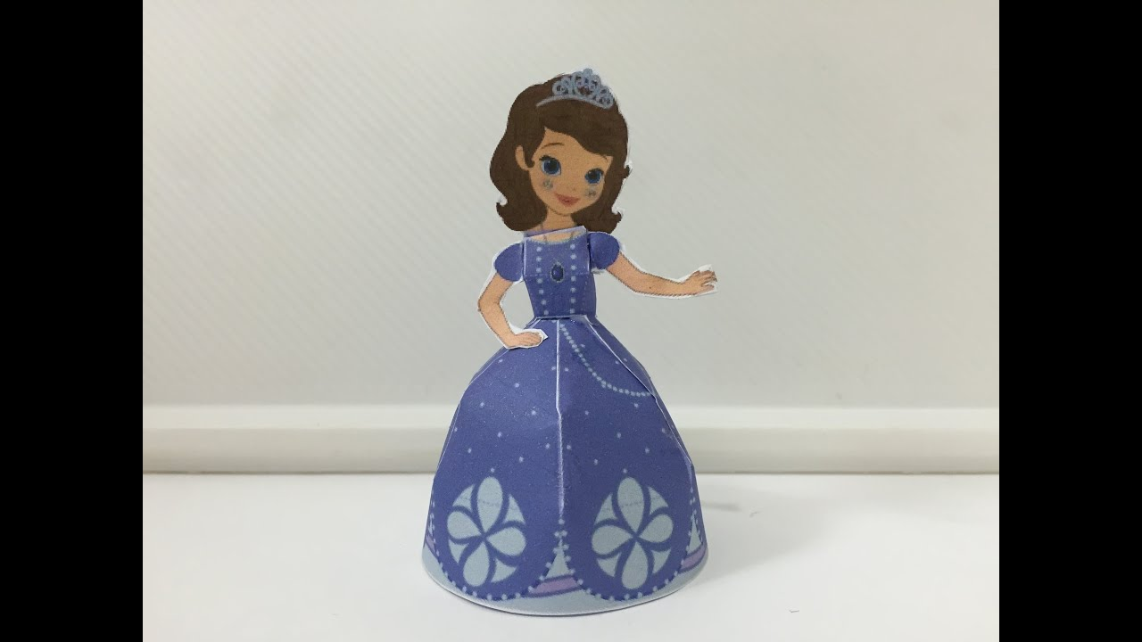 Paper craft 3d sofia the first disney how to make tutorial paper craft 3d sofia the first disney how to make tutorial 3d youtube jeuxipadfo Choice Image