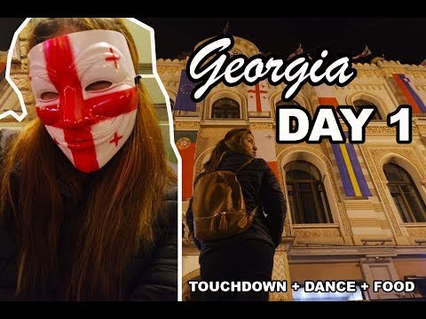 Travel Georgia Day 1 (Travel Vlog) Arriving to Georgia and Company Night