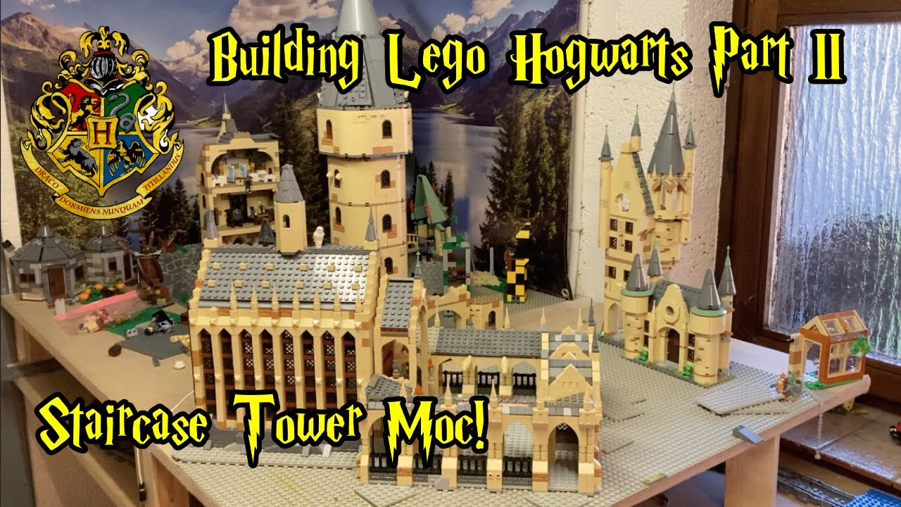 Download Building Lego Hogwarts Part II - The Great Staircase Tower Moc!